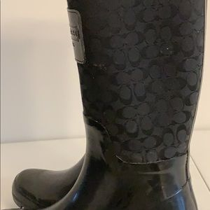 Coach ladies rain boots size 7